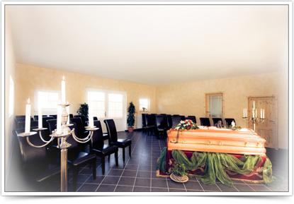 Trauerhalle für Trauerfeier in der  in der Elbmarsch - Stove/Drage